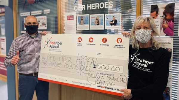 Brunsdon Financial proud to donate book sales to The Pied Piper Appeal